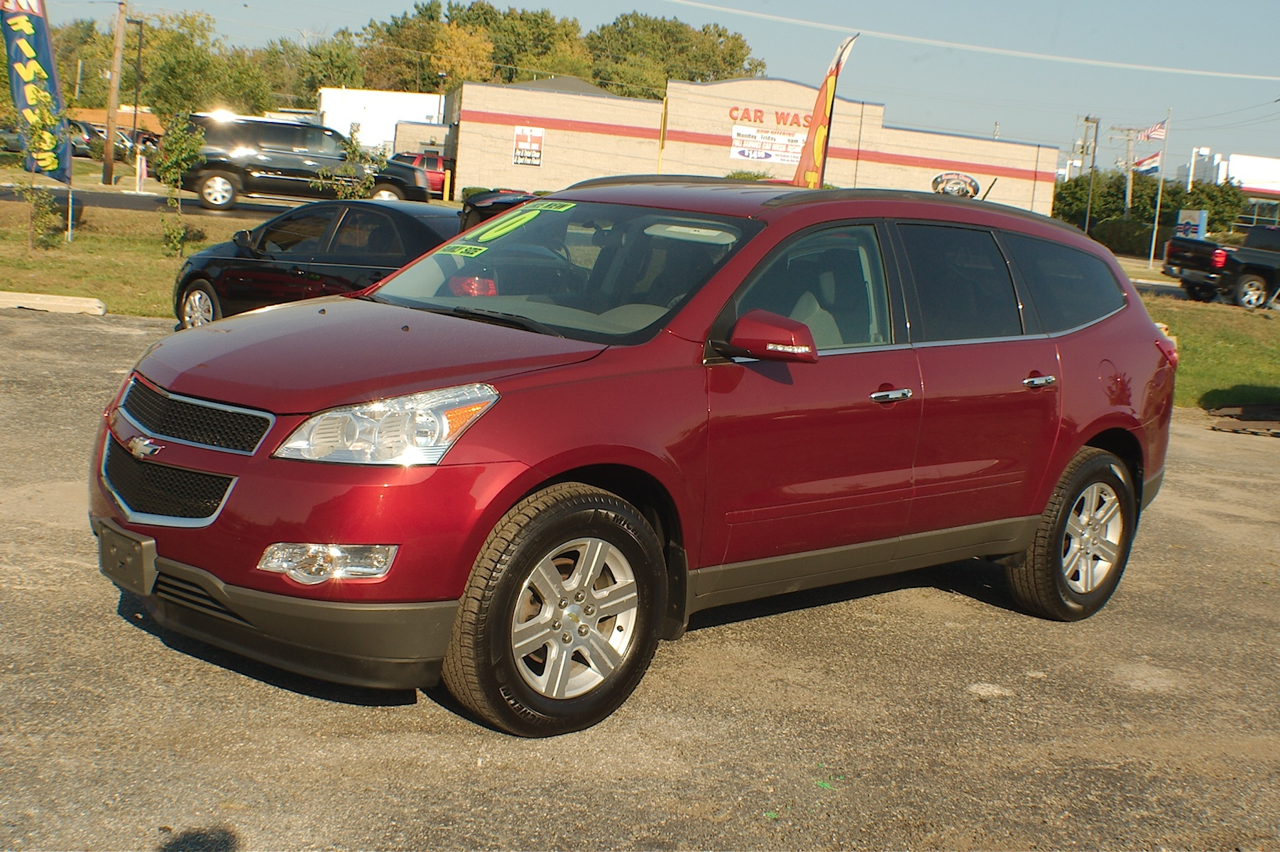 2010 Chevrolet Traverse LT AWD Maroon SUV Used Car Sale Antioch Zion Waukegan Lake County Illinois