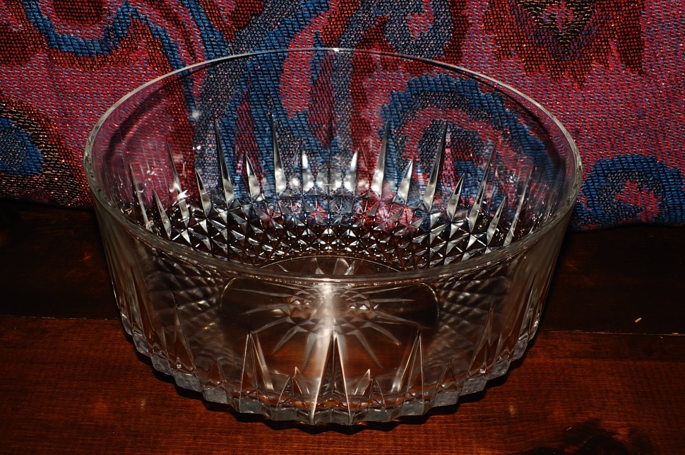 Cut Glass Crystal Decorative Fruit Serving Bowl Salad Dish glassware sale
