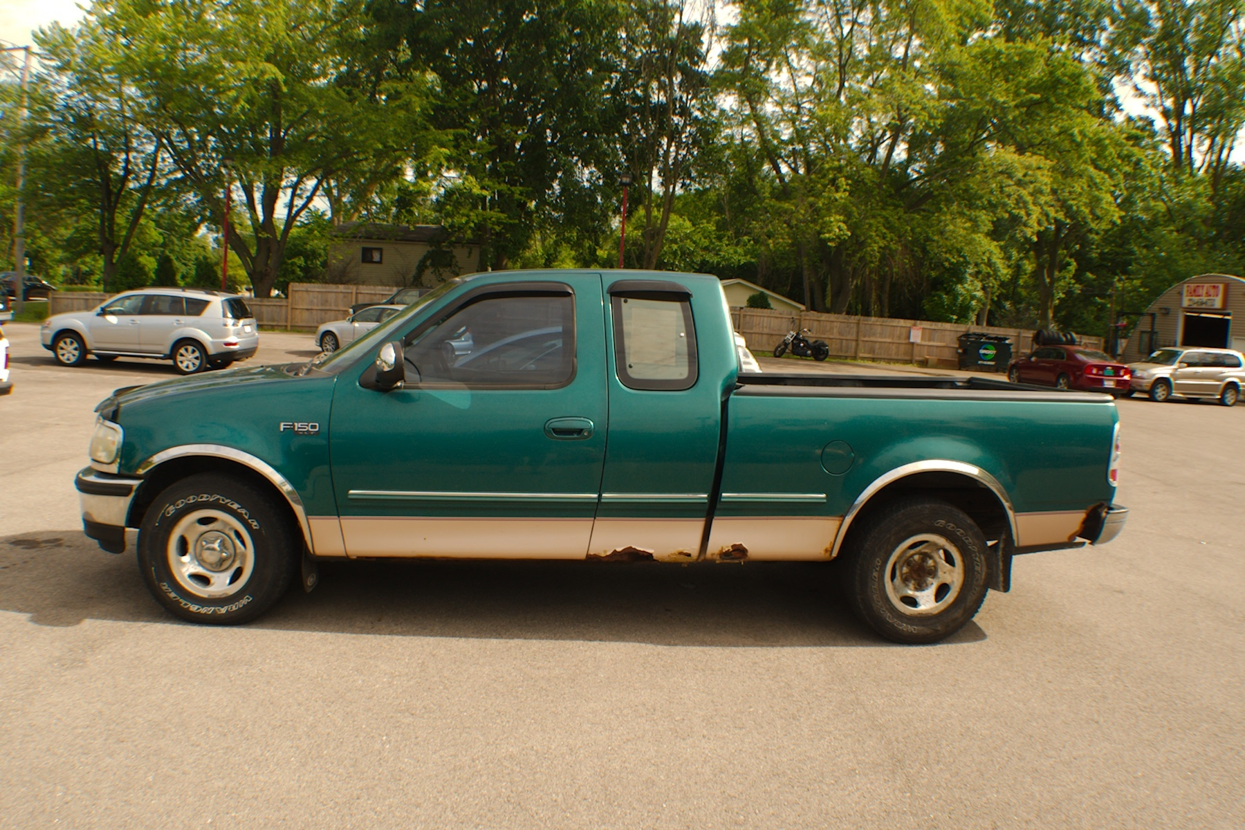 1997 Ford F150 XLT Green 4x2 Reg Cab Used Truck Sale Antioch Zion Waukegan Lake County Illinois