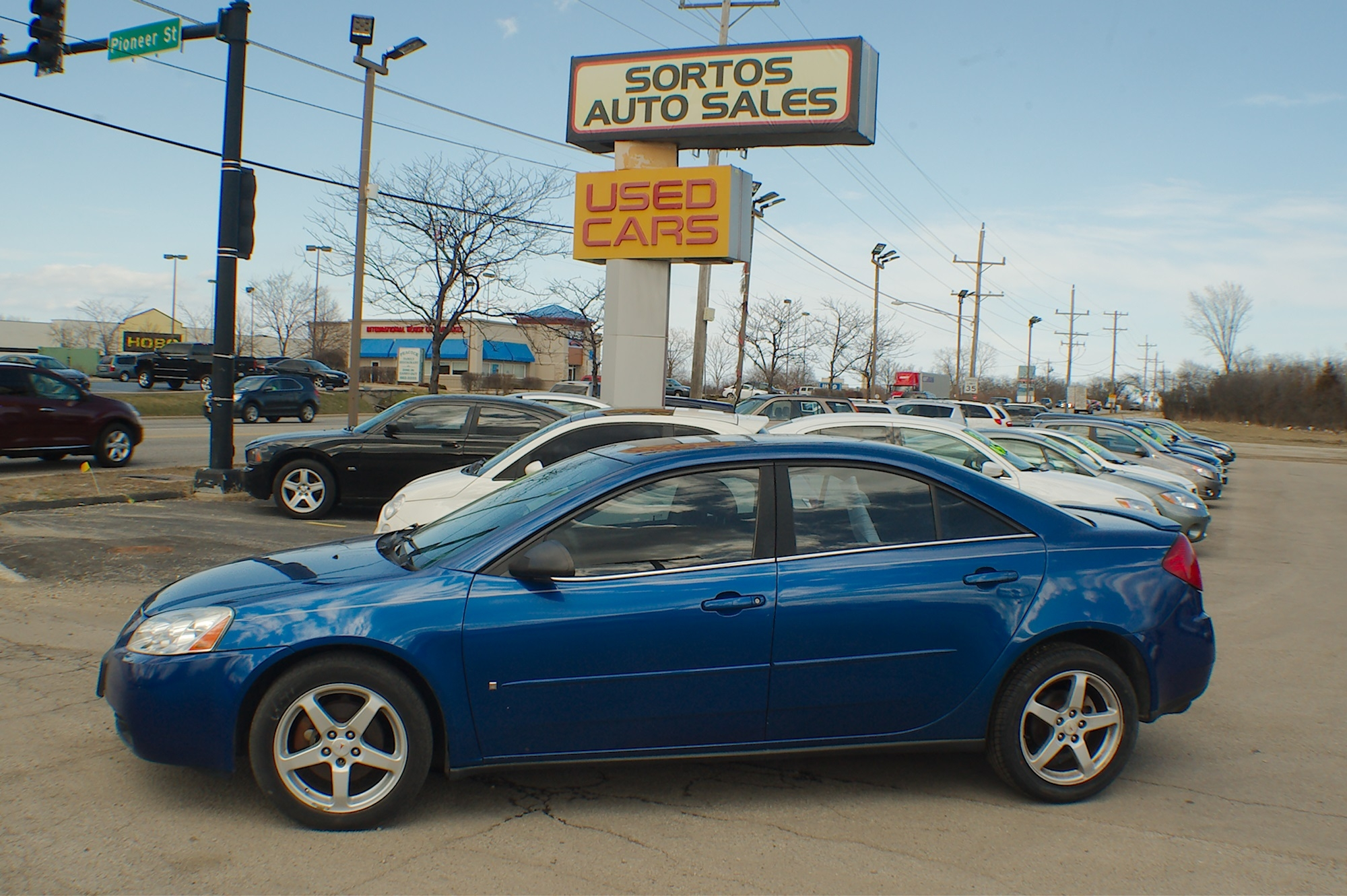 2007 Pontiac G6 Blue Sedan Used Car Sale Antioch Zion Waukegan Lake County Illinois