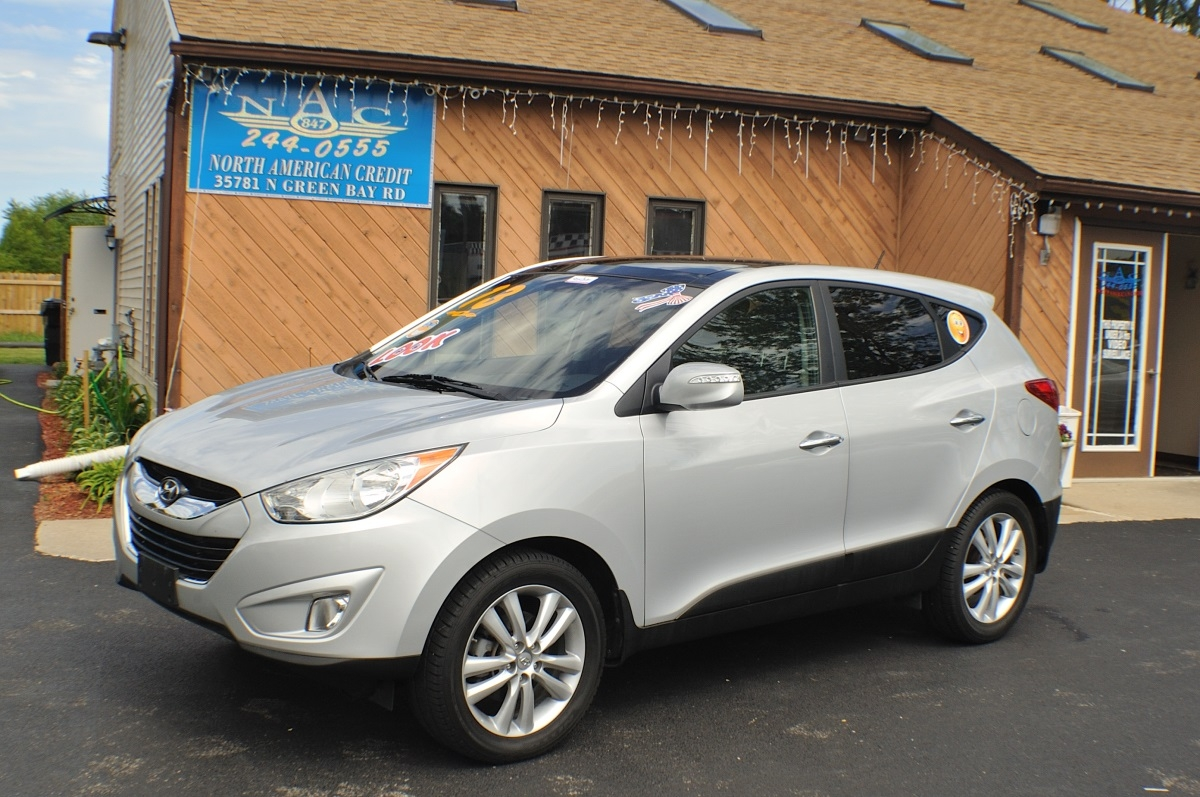 2013 Hyundai Tucson Limited Silver used SUV Sale Antioch Zion Waukegan Lake County Illinois