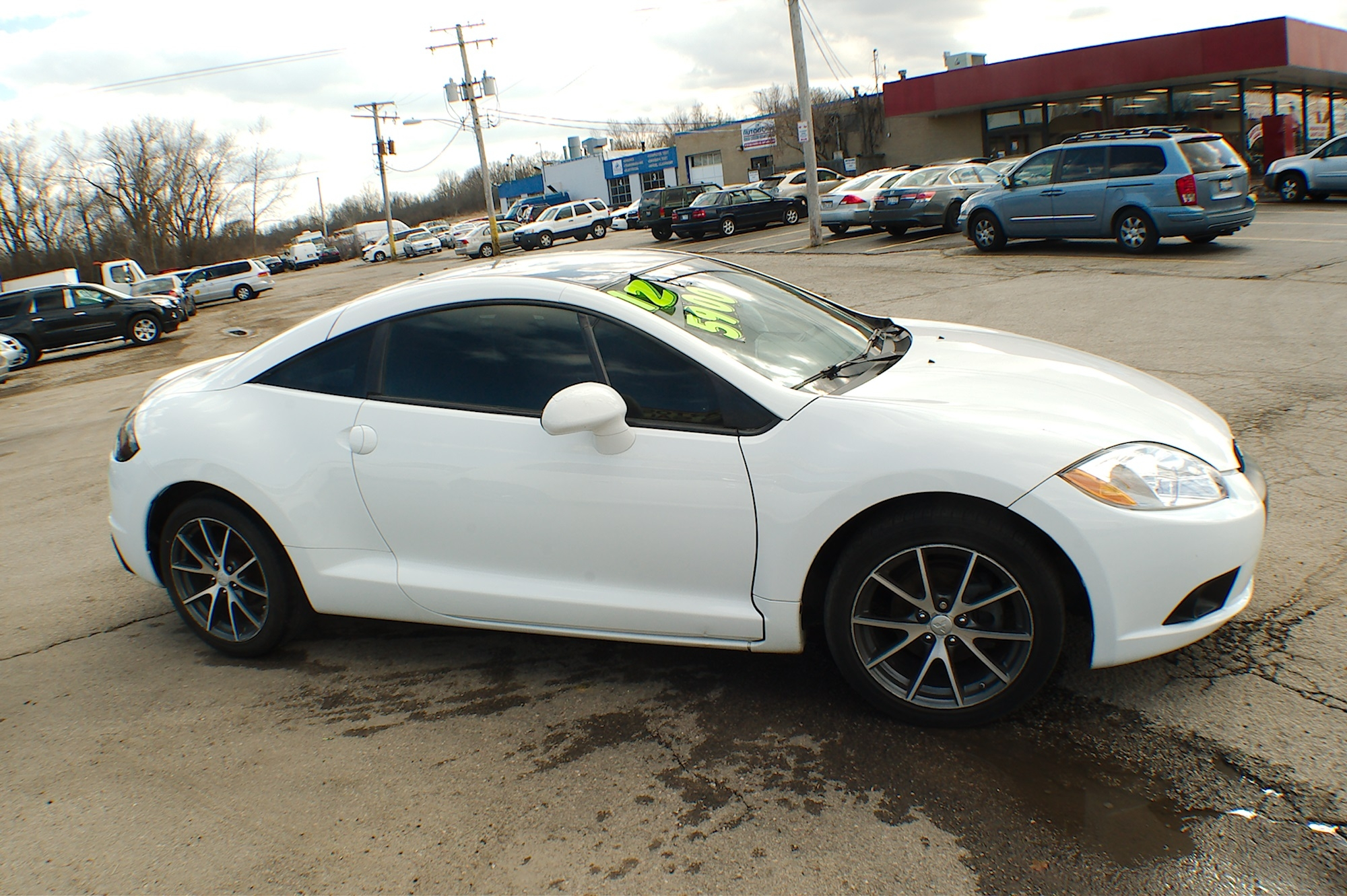 2012 Mitsubishi Eclipse White Coupe Used Car Sale Bannockburn Barrington Beach Park