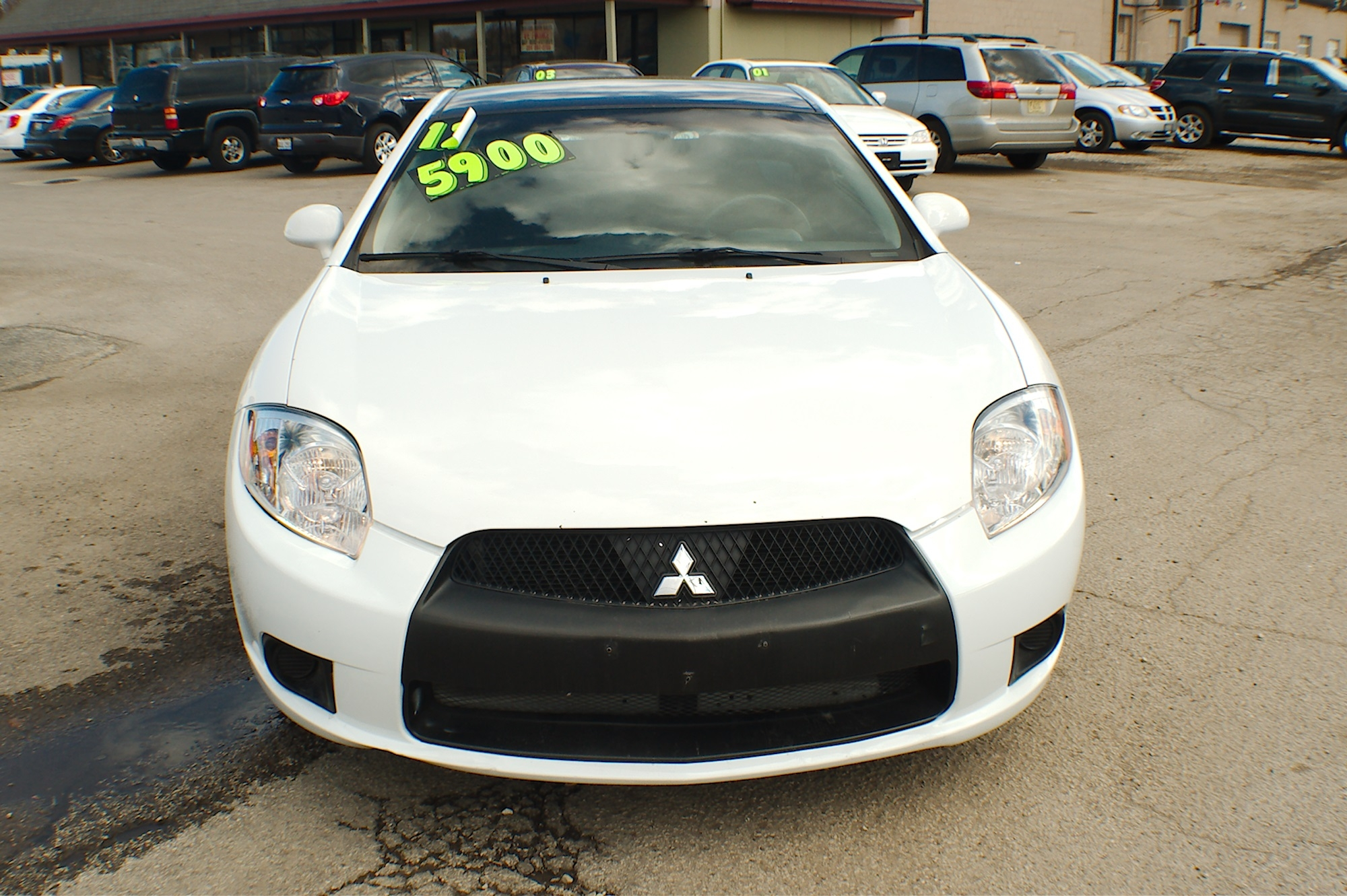 2012 Mitsubishi Eclipse White Coupe Used Car Sale Gurnee Kenosha Mchenry Chicago Illinois