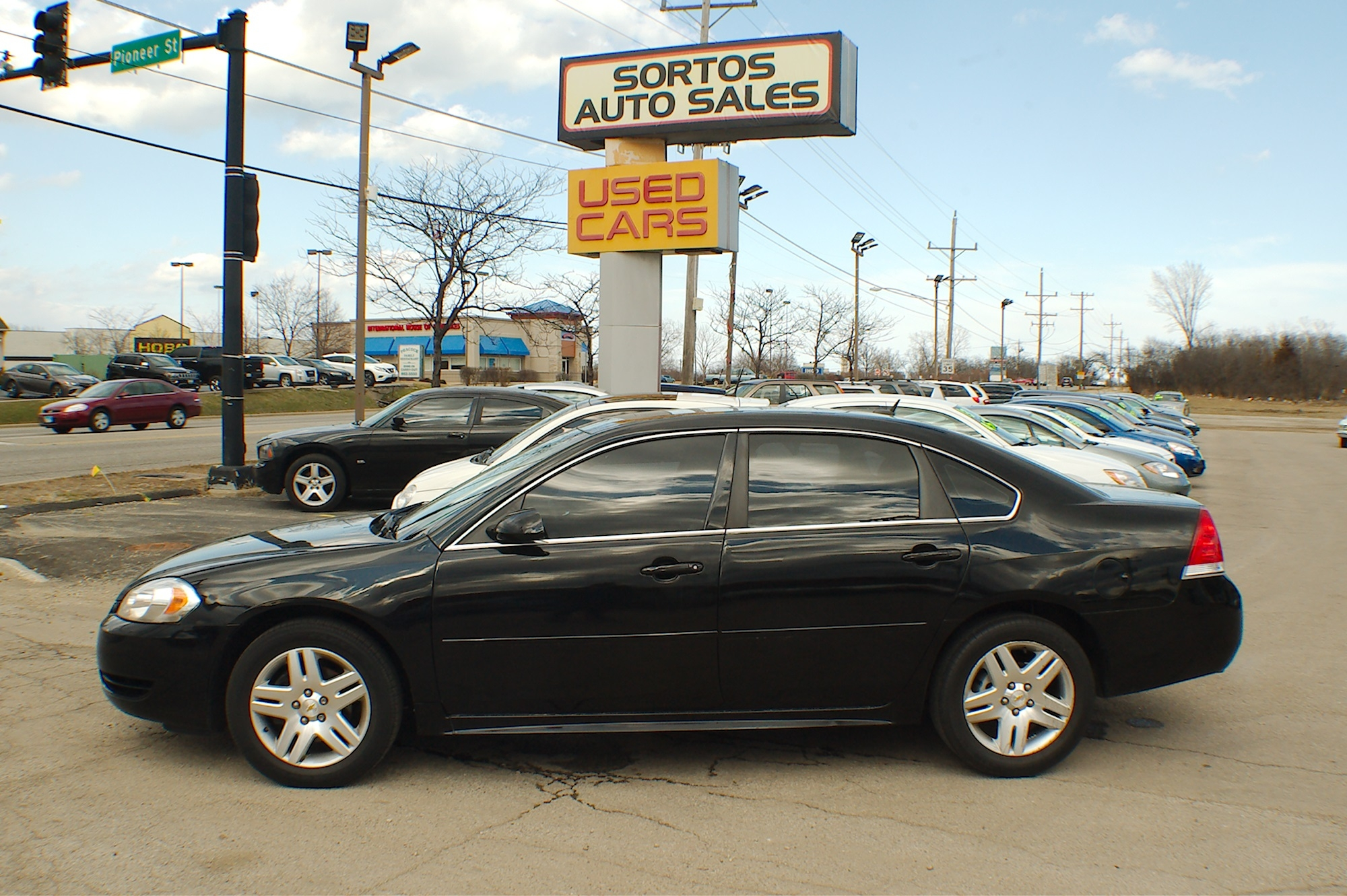 2012 Chevrolet Impala LT Black Flex Fuel Sedan Sale Antioch Zion Waukegan Lake County Illinois