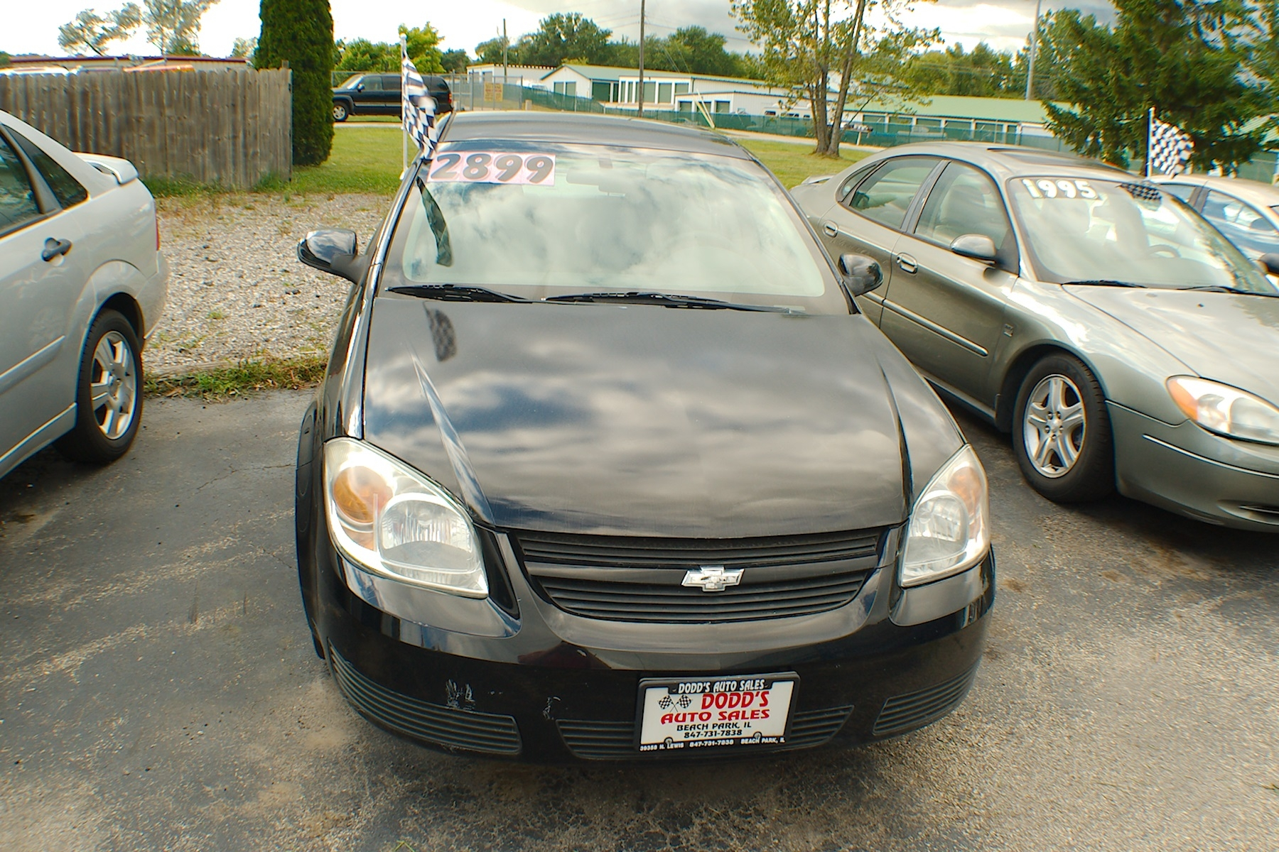 2005 Chevrolet Cobalt LS Black Sedan Used Car Sale Gurnee Kenosha Mchenry Chicago Illinois