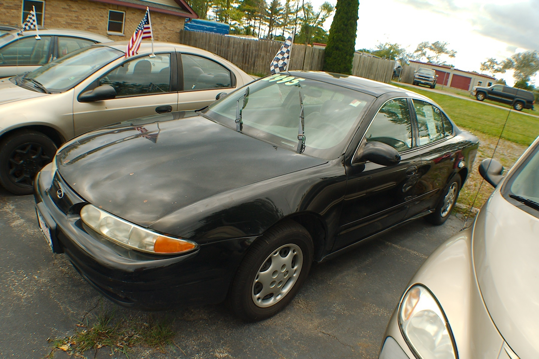 2001 Oldsmobile Alero Black Sedan Used Car Sale Antioch Zion Waukegan Lake County Illinois