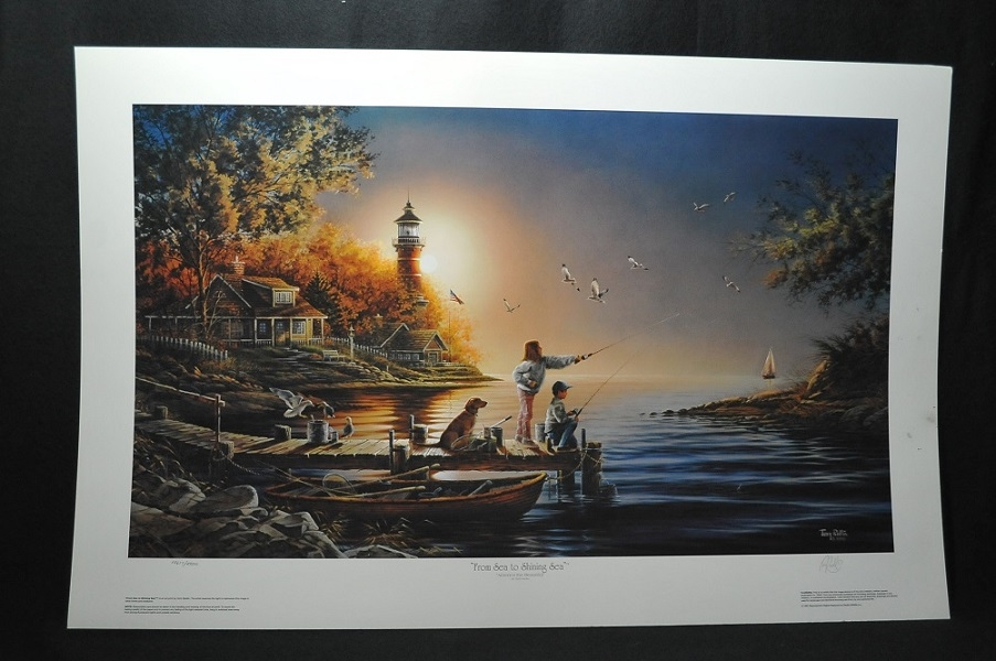 sea shinning sea terry redlin art print artwork lighthouse print sale