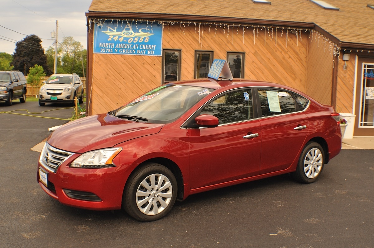 2014 Nissan Sentra SV Red Sedan used car sale Antioch Zion Waukegan Lake County Illinois