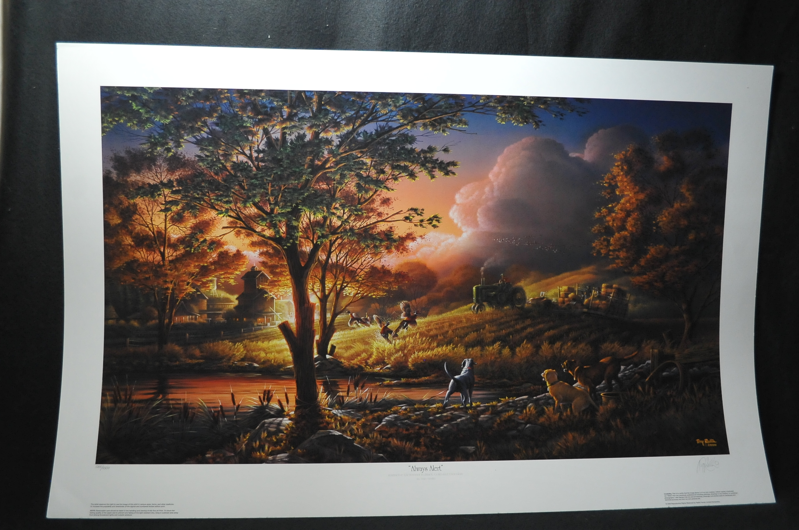 Terry Redlin Always Alert Collectors Signed Numbered Print sale
