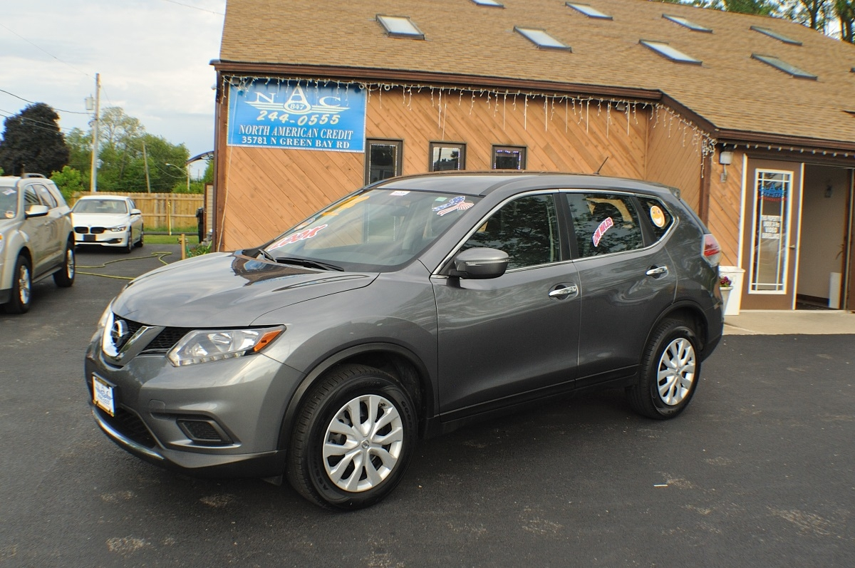 2014 Nissan Rogue AWD Gray Used SUV Sale Antioch Zion Waukegan Lake County Illinois