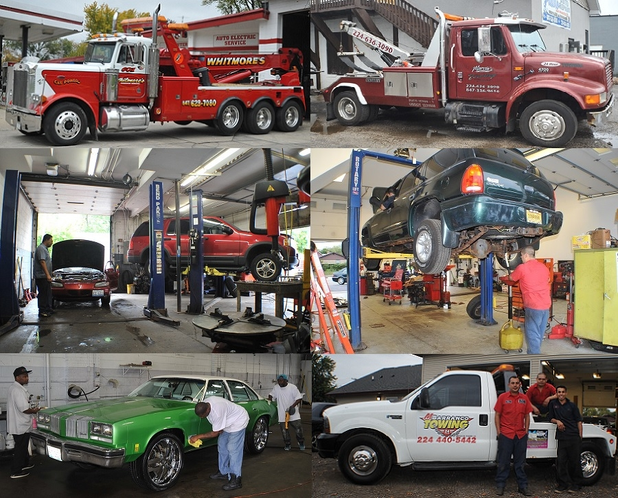 towing auto repair service motor brakes exhaust muffler engine repair waukegan