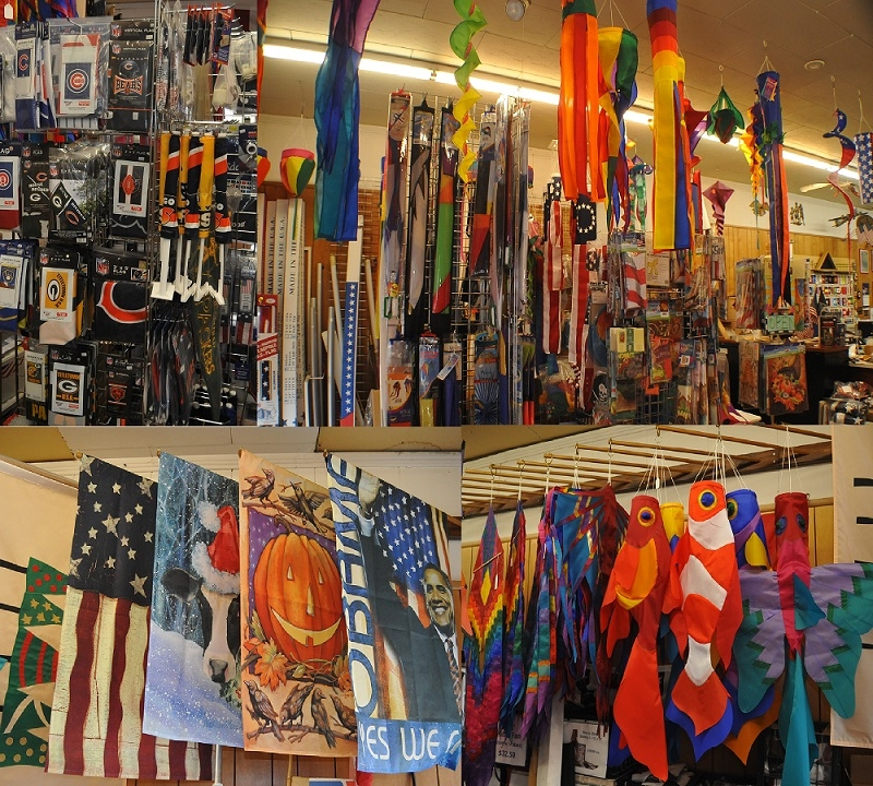 Flag sales Waukegan best top flags sales online store wind sails kites Gurnee Zion