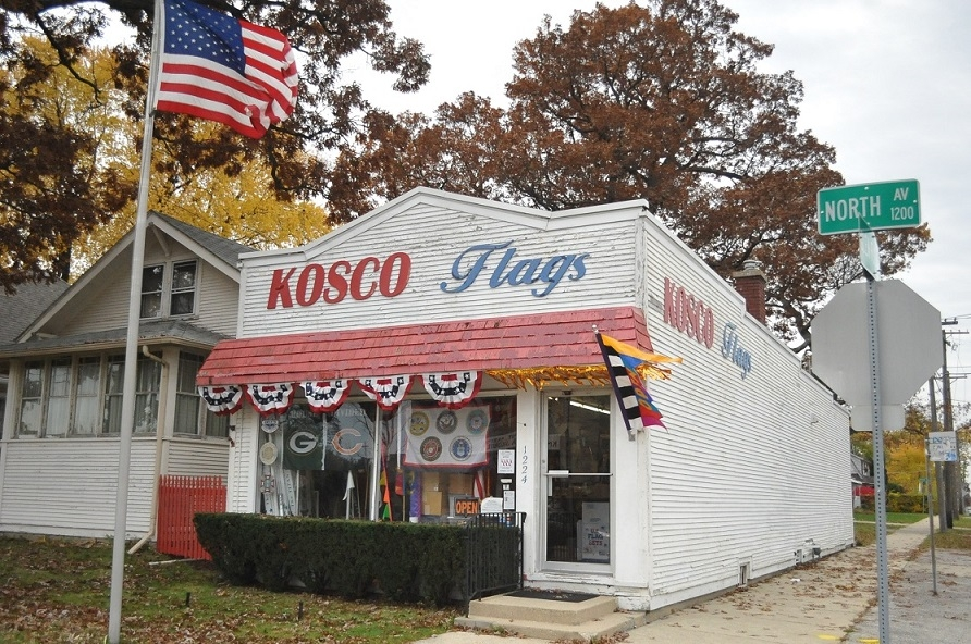 Kosco Flags Waukegan many flags choose USA made flag pole install