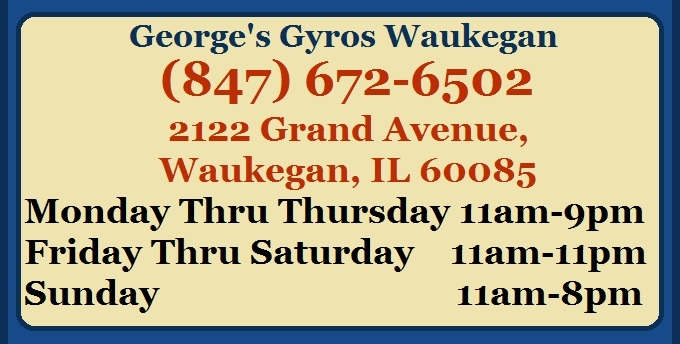 Georges Gyros Waukegan restaurant full menu online Best Gyro Philly Cheese Steak