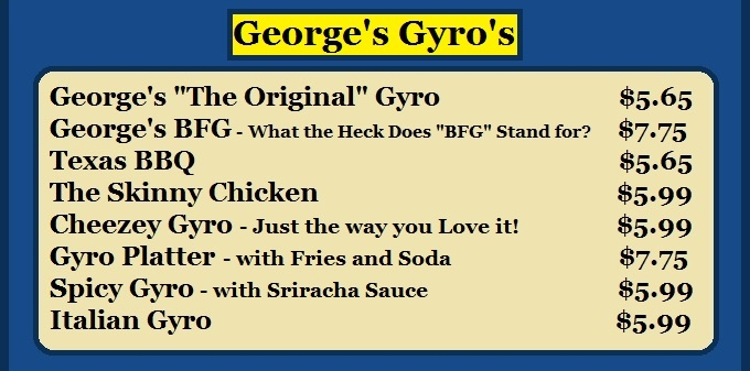 Georges Gyros Cheeseburgers philly cheesesteak North Chicago Illinois